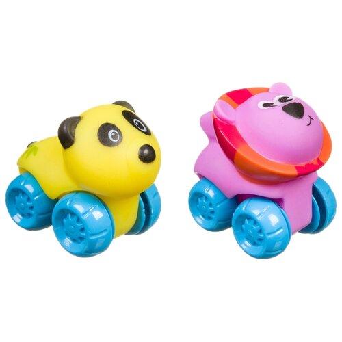развивающая игрушка bondibon автомобиль корабль разноцветный Развивающая игрушка BONDIBON Baby You Панда и лев (ВВ3423) желтый/сиреневый/голубой