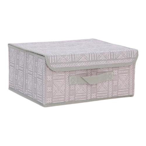 textura короб для хранения с крышкой 28 х 30 х 15 см home Доляна Короб для хранения с крышкой 30 х 28 х 15 см этника
