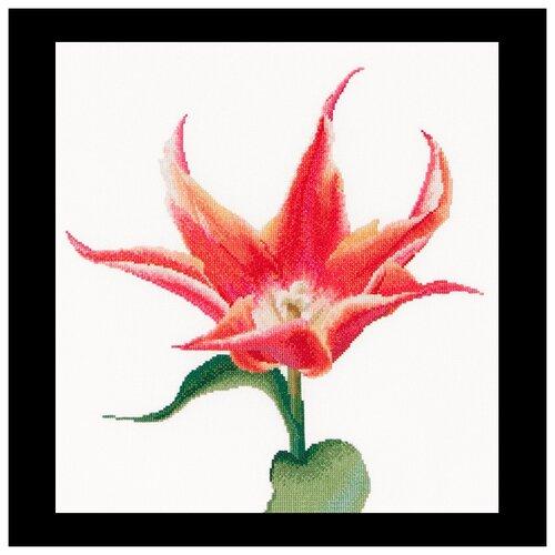 Купить Набор для вышивания Оранжевый тюльпан, канва лён 36 ct 34 х 36 см 524, Thea Gouverneur, Наборы для вышивания