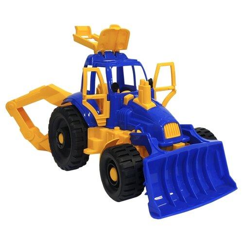 Трактор Нордпласт с ковшом и грейдером (400) 43.7 см