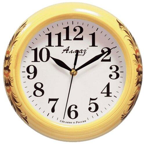 Часы настенные кварцевые Алмаз P13 бежевый/белый часы настенные кварцевые алмаз a79 a85 бежевый белый