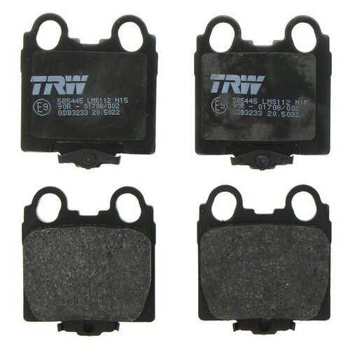 Дисковые тормозные колодки задние TRW GDB3233 для Lexus, Toyota (4 шт.)