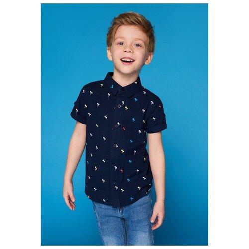 Купить Рубашка INFUNT размер 128, синий, Рубашки