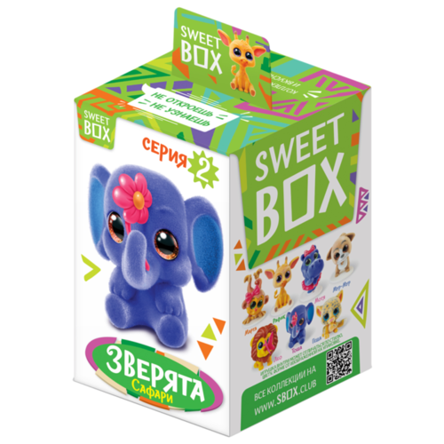 цена на Жевательный мармелад Sweet Box С игрушкой Зверята 10 г