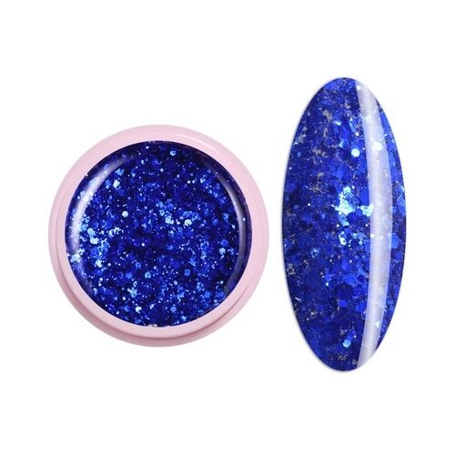 Краска ICE NOVA Glitter Gel 52 синий