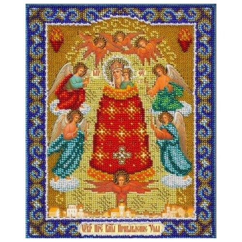 Купить Паутинка Набор для вышивания бисером Пресвятая Богородица Прибавление Ума 20 х 25 см (Б-1042), Наборы для вышивания