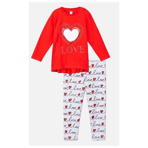 Купить Комплект одежды playToday размер 74, красный/серый, Комплекты