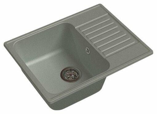 Врезная кухонная мойка GranFest Quarz GF-Z13 62х48см искусственный мрамор
