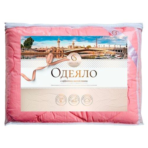 Одеяло Selena Crinkle line, 140 х 205 см (коралл)