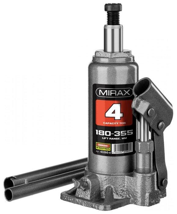 Домкрат бутылочный гидравлический Mirax 43260-4 (4 т)