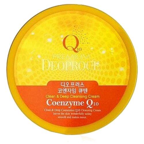 Deoproce крем очищающий для лица Premium с коэнзимом, 300 мл себолосьон очищающий premium цена