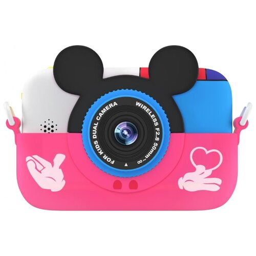 Фотоаппарат GSMIN Fun Camera Memory с играми розовый