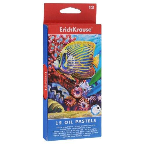 Купить ErichKrause Масляная пастель 12 цветов 34933, Пастель и мелки