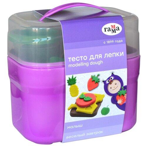 Купить Масса для лепки ГАММА Малыш Веселый завтрак 4 цвета (0509199), Пластилин и масса для лепки