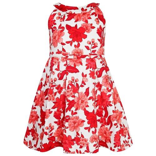 Купить Платье Mayoral размер 128, белый/красный, Платья и сарафаны