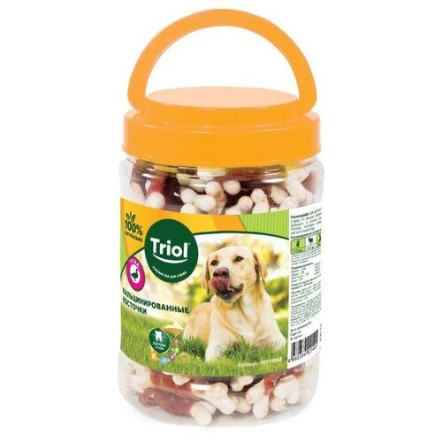 Лакомство для собак Triol Кальцинированные косточки с уткой, 450 г