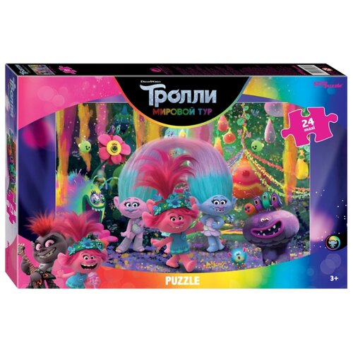 Пазл Step puzzle DreamWorks Trolls - 2 Music is Life (90069), 24 дет. пазл step puzzle степ пазл 160эл trolls dreamworks