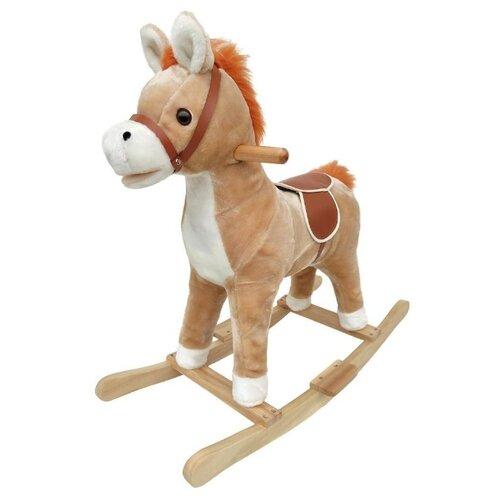 Купить Каталка-качалка Наша игрушка Лошадка WJ-305 белый/бежевый, Каталки и качалки
