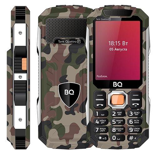 Телефон BQ 2817 Tank Quattro Power камуфляж мобильный телефон bq mobile bq 2817 tank quattro power black