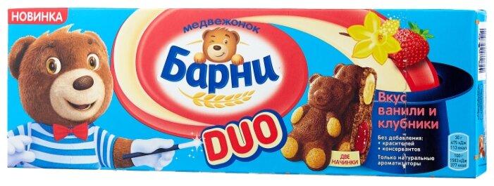 Пирожное Медвежонок Барни Duo со вкусом ванили и клубники 150 г