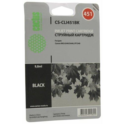 Купить Картридж cactus CS-CLI451BK, совместимый