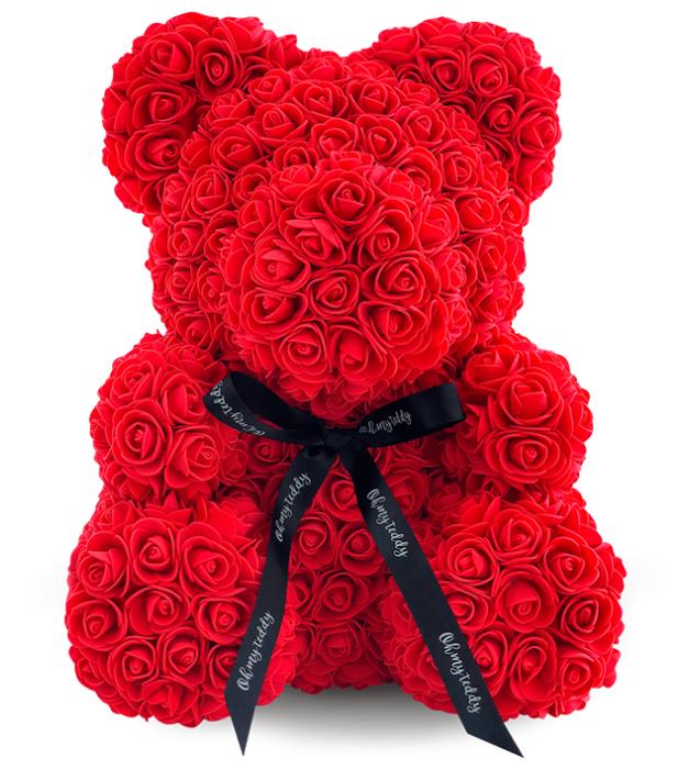Kani Мишка из роз, 40 см красный