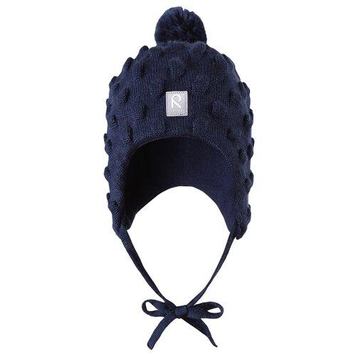Шапка Reima размер 46, синий шапка для мальчика reima синий