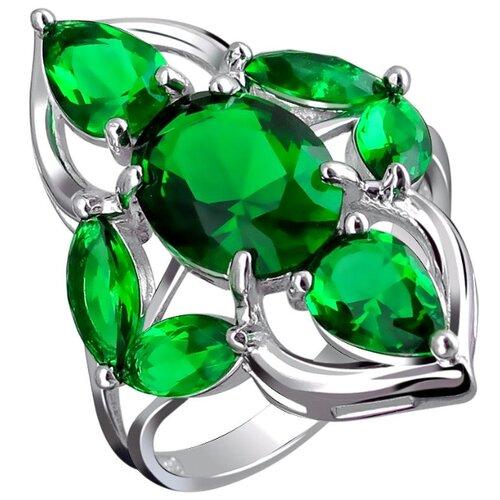 Эстет Кольцо с кварцами из серебра С19К25037-10, размер 19 ЭСТЕТ