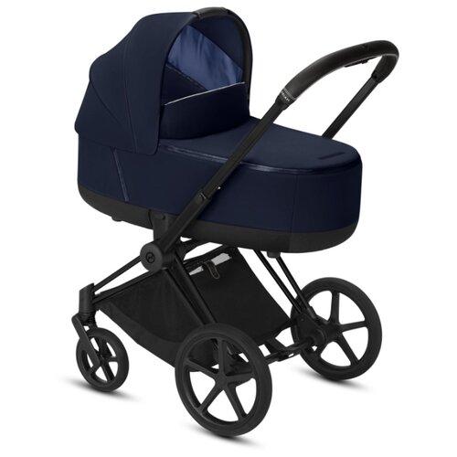 Купить Коляска для новорожденных Cybex Priam III (люлька) indigo blue/matte black, цвет шасси: черный, Коляски