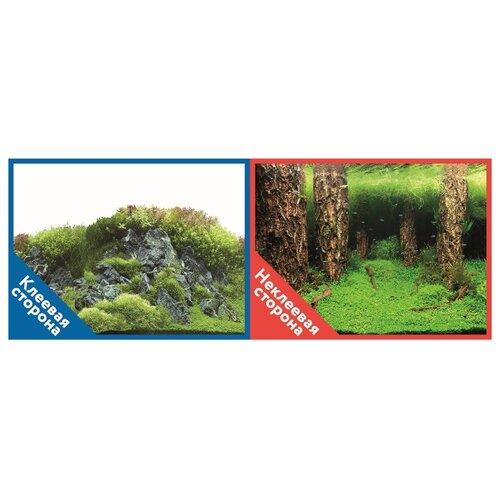 Пленочный фон Prime Камни с растениями/Затопленный лес двухсторонний 50х100 см