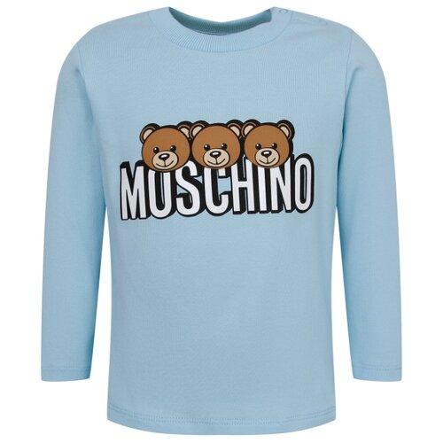 Купить Лонгслив MOSCHINO размер 68-74, голубой, Футболки и рубашки