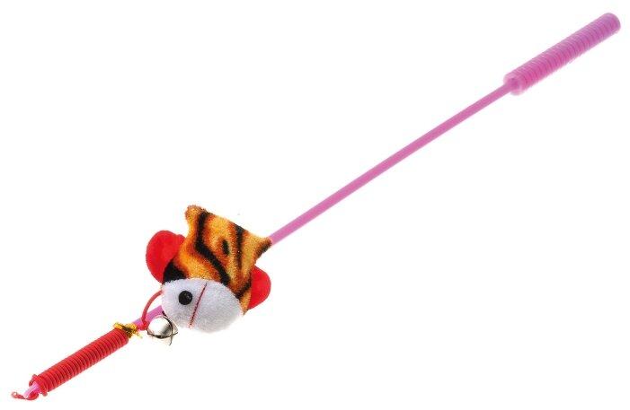 Дразнилка для кошек V.I.Pet Дразнилка-удочка с игрушкой рыбка (ST-104)