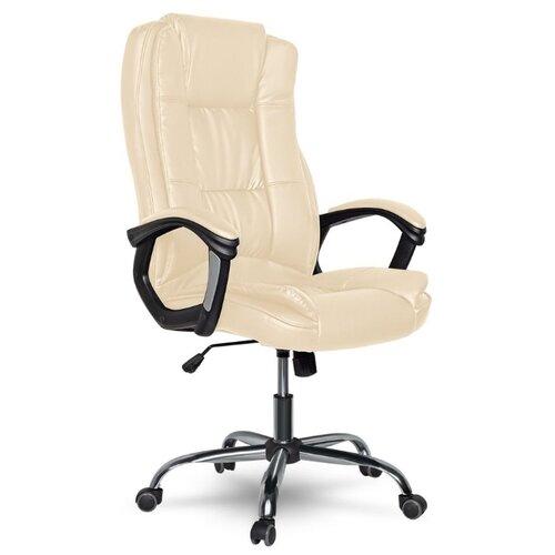 Компьютерное кресло College XH-2222 офисное, обивка: искусственная кожа, цвет: бежевый компьютерное кресло tetchair барон обивка искусственная кожа цвет бежевый