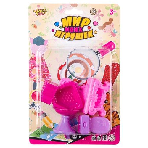 Фото - Yako Ванная комната Мир моих Игрушек (Д88710) розовый набор машин yako мир моих игрушек m7558 1 белый