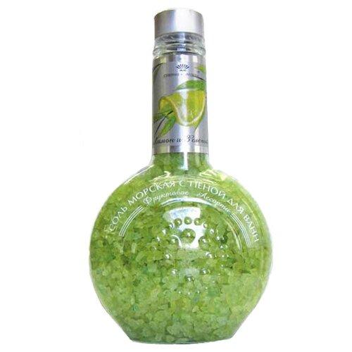 Северная жемчужина Соль для ванн Фруктовое ассорти Лимон и зеленый чай, 550 г