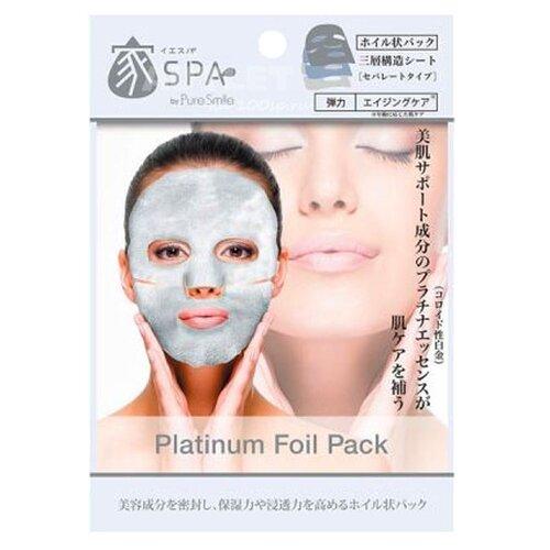 Купить Sun Smile Home Spa фольгированная маска Platinum Foil Pack с коллоидной платиной, экстрактом чайного листа и гиалуроновой кислотой, 20 мл