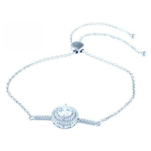 JV Браслет с фианитами из серебра MB10349AB-BT-001-WG, 18 см, 3.94 г element47 браслет из серебра 925 пробы с фианитами sb a0009 001 wg 18 см