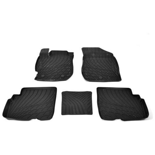 Фото - Комплект ковриков NorPlast NP11-LdC-61-020 для Nissan Almera 5 шт. черный комплект ковриков norplast np11 ldc 69 250 renault koleos 5 шт черный