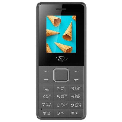 Телефон Itel it2160 серый (IT2160-DEGR) мобильный телефон itel it2160 ds black черный