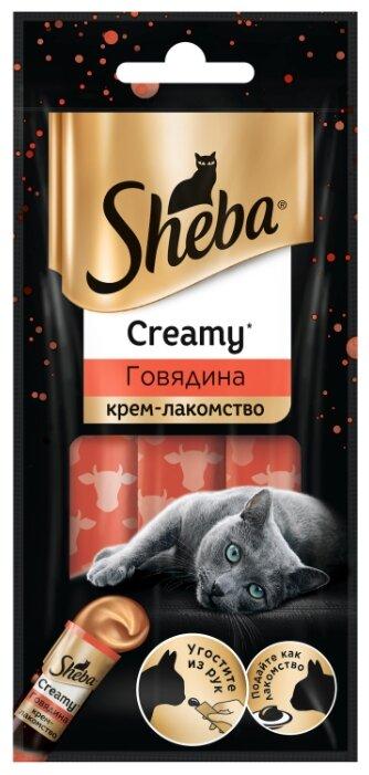 Лакомство для кошек Sheba Creamy с говядиной