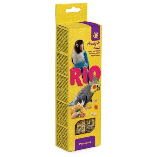 Лакомство для птиц RIO с медом и орехами 150 г лакомство для всех видов птиц rio сенегальское просо в колосьях 100 г