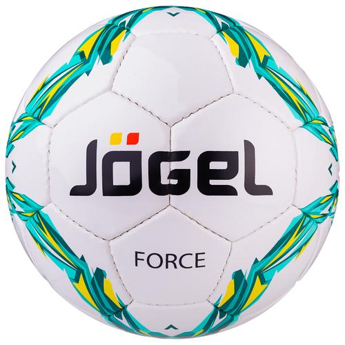 Футбольный мяч Jogel Force белый/голубой/зеленый 5