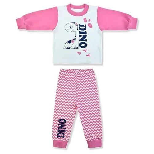 Пижама LEO размер 74, белый/розовый мелонс водолазка мелонс розовый 48 74