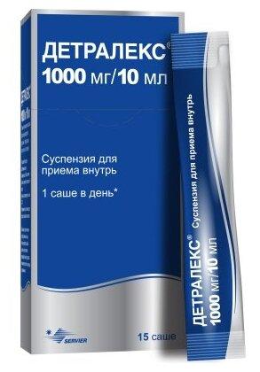 Детралекс сусп. д/вн. приема 1000 мг/10 мл саше 10 мл №15