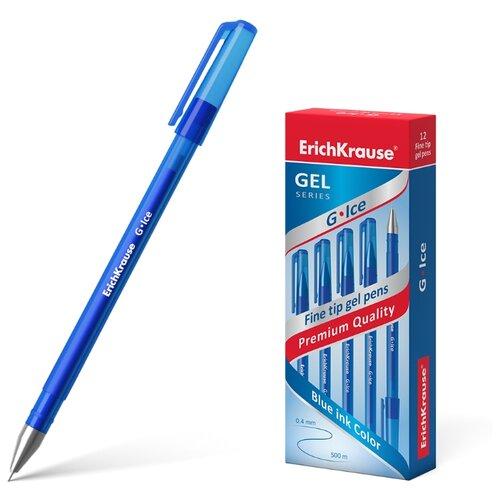 ErichKrause набор гелевых ручек G-Ice 0.4 мм 12 шт (39004), синий цвет чернил, Ручки  - купить со скидкой