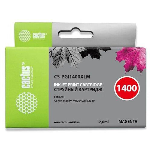 Картридж cactus CS-PGI1400XLM, совместимый картридж cactus cs pgi1400xlm совместимый