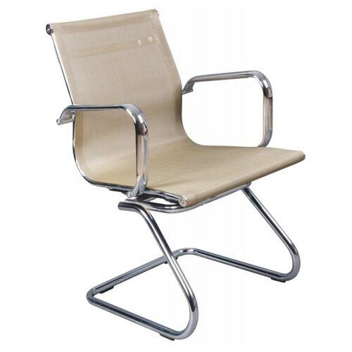 Стул Бюрократ CH-993-LOW-V, сетка, металл/текстиль, цвет: золотистый офисный стул бюрократ t 8010 low v