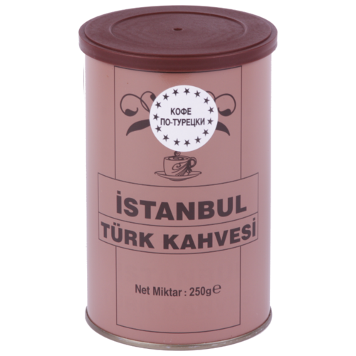 Кофе молотый İstanbul Türk Kahvesi по турецки, жестяная банка, 250 г кофе молотый i̇stanbul türk kahvesi c ароматом карамели жестяная банка 250 г
