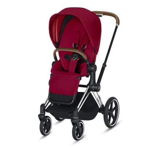 Купить Прогулочная коляска Cybex Priam III true red/chrome/brown, цвет шасси: серебристый, Коляски