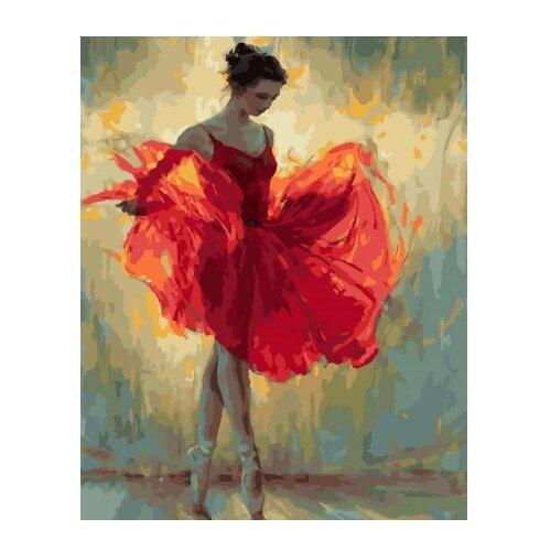 Фото - ВанГогВоМне Картина по номерам Балерина в красном платье, 40х50 см (ZX 22201) вангогвомне картина по номерам любовь к кофе 40х50 см zx 22277